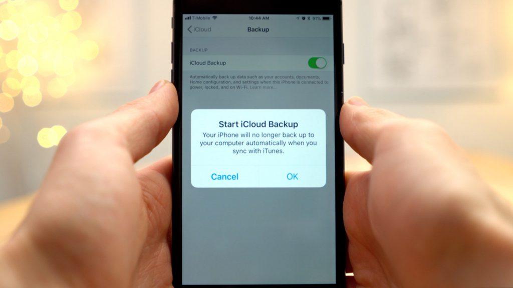backup iphone to icloud